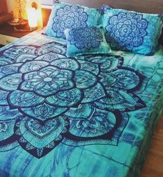 In the summer it is no wonder that one of my best selling designs are the ones in green, blue or turquoise shades that represent life, vitality, freedom and expression. Or simply the color of the pure ocean waters that makes us dream of freedom and inspire us for an adventure. Check all my designs on www.artbedding.us #mandala #bohemianstyle #bedding #bohochic #bedroomdecor #bedspread #handmade #custom #bedroom #interiordesign #inspiration #designer #hippie #summertime #bohobeach $summer
