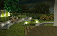 nowoczesne ogrody nocą - Szukaj w Google
