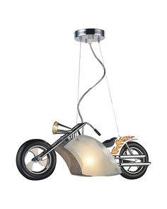 Electroplated Motorcycle Shape Children Pendant Light
