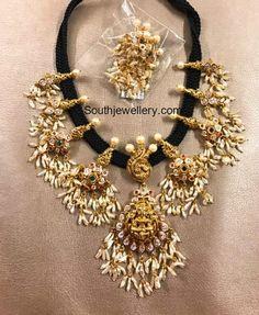 Black Thread Guttapusalu Necklace photo