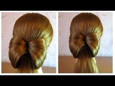 Tuto coiffure simple et rapide: le noeud papillon facile à faire soi même - YouTube