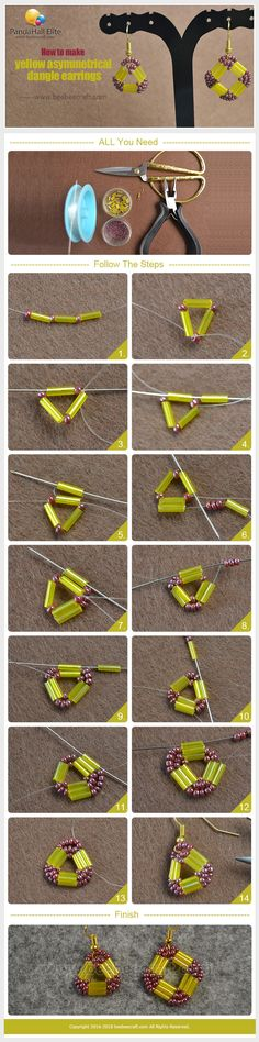 #Beebeecraft #tutorials on how to make colorful #dangleearrings with #seedbeads