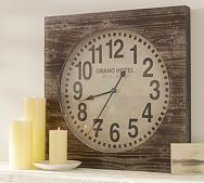 Make your own with an old clock or clock face kit and salvaged wood.