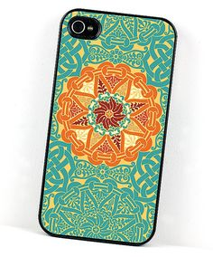 Geometric #iPhone 4 Case Teal Blue and by DecorativeDesignWKS, $20.00