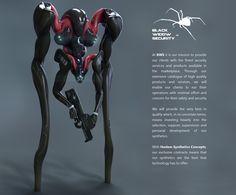 Synthetica 02: Black Widow Security, Leo Haslam on ArtStation at http://www.artstation.com/artwork/synthetica-02-black-widow-security