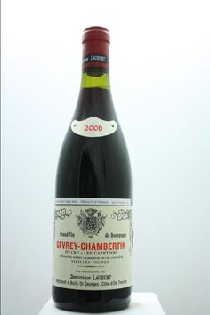 Dominique Laurent Gevrey-Chambertin Les Cazetiers Cuvée Vieilles Vignes 2006. France, Burgundy, Gevrey Chambertin, Premier Cru. 6 Bottles á 0,75l. Price realized (9/2016): 342 USD (57 USD/Bottle).