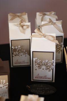 Memory Box Milk Carton; would also make a cute tag Memory Box dies- Frostyville Border 98146