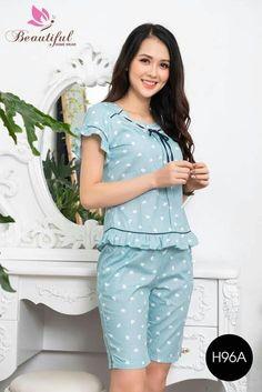 Cute Sleepwear, Sleepwear Women, Girls Pajamas, Pajamas Women, Teen Fashion Outfits, Casual Outfits, Night Suit For Women, Asian Model Girl, Honeymoon Outfits