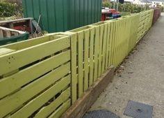 Pallet fence at Ballon Community Garden