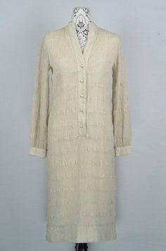 1960s long sleeve beige wiggle dress and by 86CharlotteStreet, $78.00