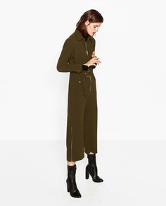 Image 1 of ZIPPED JUMPSUIT from Zara