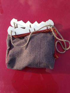 """""""Birka bag"""" Replika based on the pieces of wood that were found during the maritime excavation in Birkas main harbour 2014"""