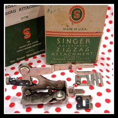 Singer Featherweight 221 ZIGZAG sewing machine attachment $42 Featherweight Sewing Machine, Treadle Sewing Machines, Antique Sewing Machines, Sewing Hacks, Sewing Crafts, Sewing Machine Repair, Bee Embroidery, Vintage Sewing Notions, Quilting Tips