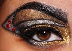 witchblade inspired makeup look