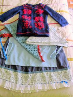Aquí quiero: Vestidas para Olentzero Patterns, Ideas, Vestidos, Card Designs, Costume, Homemade, Suits, Crocheting, Dressmaking
