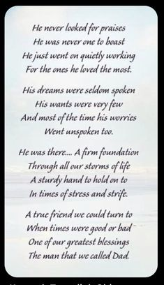 Inspiring Quotes About Life, Inspirational Quotes, Motivational, Dad In Heaven Quotes, Family Quotes, Life Quotes, Daughter Quotes, Dad Poems From Daughter, I Miss My Dad