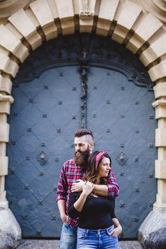 J&W #coupleshoot #engagement #photoshoot #portrait #graz #karinbergmann #bohostyle #beard #coupleportrait #foreverinlove #streetstyle #tattoo #piercing Street Style, Portrait, Bucket Hat, Couple, Engagement, Hats, Fashion, Graz, Moda