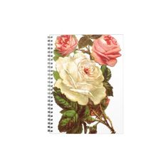 Vintage Pastel Roses Note Books $13.25