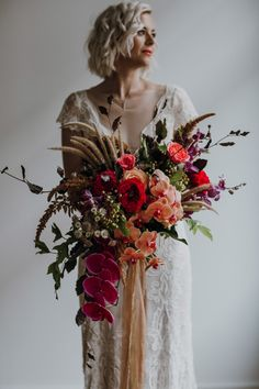 FEATURE | Nouba Blog | vibrant bridal bouquet with wild grass and orchids | Follow us @kwhbridal