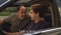 "Tony's emotional intelligence 29 Reminders Of ""The Sopranos"" Wicked Sense Of Humour Tony Soprano, Christopher Moltisanti, Les Sopranos, Filthy Memes, Don G, Jessica Day, Great Tv Shows, Tough Guy, Por Tv"