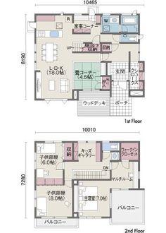 間取り図 Japanese House, Japanese Design, House Layouts, House Floor Plans, Architecture Design, Decoration, House Design, Flooring, How To Plan