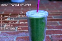 This delish protein powered green breakfast smoothie is perfect for your morning boost, but it is also an amazing afternoon pick-me-up or post workout recovery drink.