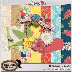Quality DigiScrap Freebies: A Mother's Heart mini kit freebie from Lisa Rosa Designs