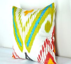 Ikat Pillow cover - Fabric hand woven- Aprx Size 16 x16 inch