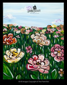 Field of Flowers Painting - Jackie Schon, The Paint Bar