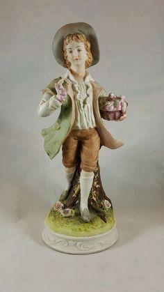 "Vintage Lefton Man Figurine ADRIAN #KW3047...PORCELAIN BISQUE...7 1/2"" H in Collectibles, Decorative Collectibles, Decorative Collectible Brands | eBay"
