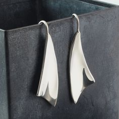 Love the simple elegance of these sterling silver earrings. $110 http://www.crowdedsilver.com.au/store/earrings-c-357.html  #SilverEarrings #SilverJewellery