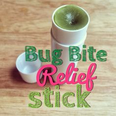 How to Make a Bug Bite Relief Stick- this really helps relieve those itchy bug bites.