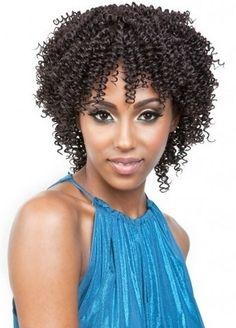 Isis Badu Short Plus Human Hair Cork Screw 3pcs - Lhboutique.com