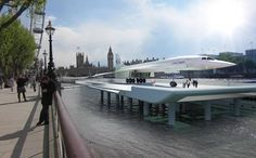 A rendering shows how the Concorde would look if successfully put on display in central London