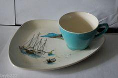 Unboxed Date Range Midwinter Pottery Tennis Set, Little Cup, Types Of Tea, Cuppa Tea, Tea Service, Vintage Dishes, Mid Century Design, Tea Cups, Decorative Plates