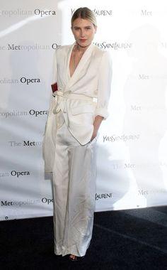 Easy way to wear white, Dree Hemingway, wearing Yves Saint Laurent - Vogue