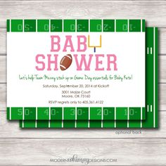 pink football baby shower classic round sticker baby shower gifts