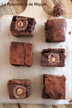 Brownie With Ferrero Rocher Chocolates.