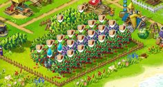 Orchard at Arkadiusz (GG) Village - second candidate for Village of the Month ;) http://fht.fansite.xaa.pl/viewtopic.php?f=8=17=28#p28 #happytale