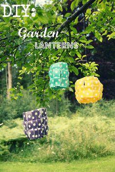 Rebecca DIY: DIY: Garden Lanterns