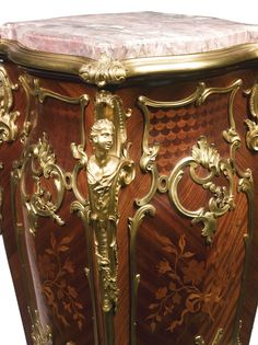 date unspecified A pair of gilt bronze-mounted kingwood, satiné and fruitwood floral marquetry four sided pedestals Paris, late century Estimate — USD LOT SOLD. USD (Hammer Price with Buyer's Premium) French Furniture, Antique Furniture, Rococo, Baroque, Luxurious Bedrooms, Pedestal, Wardrobes, 19th Century, Amsterdam