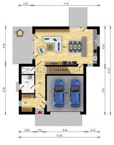 Rodinný dům Dakota 5 Plus 2 - přízemí