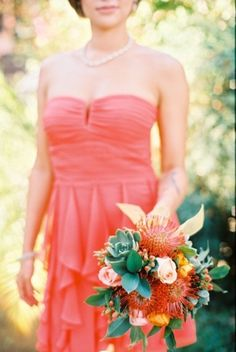 #roses #succulents #bouquet Photography by bwrightphoto.com Event Coordination by annjkim.com Floral Design by mylittleflowershop.com  Read more - http://www.stylemepretty.com/2013/06/05/palm-springs-wedding-from-bwright-photography/
