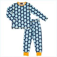 Maxomorra Schlafanzug Geister blau