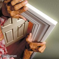 Make furniture-quality miter cuts with these pro tips for measuring and cutting. Learn how to tweak cuts in door and window trim so that joints seem to just disappear. Pro tricks for air-tight joints Do It Yourself Furniture, Do It Yourself Home, Diy Projects To Try, Home Projects, Furniture Making, Diy Furniture, Wicker Furniture, Trim Carpentry, Do It Yourself Inspiration