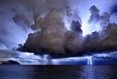 Drama in the sky.