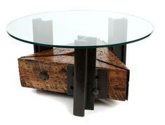 Мебель из настоящих рельс и шпал - фото