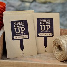 Seed Packets - But wouldn't these make cute row markers? (Design copyright belongs to Vicki Munro June 2011)