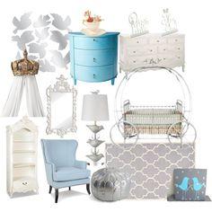 """Cinderella nursery"" by molly-pop on Polyvore"