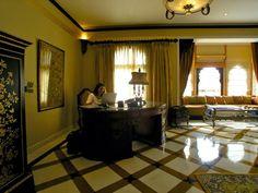Stilvoll arbeiten auch unterwegs... hier im Rambagh Palace, Jaipur, Indien